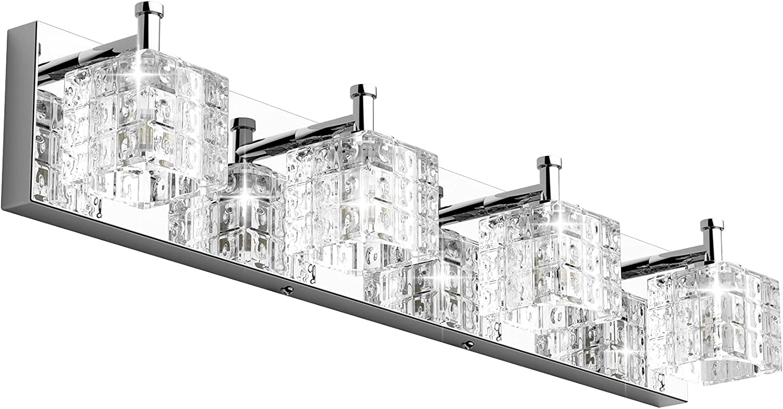Ralbay Crystal Vanity Excellent Light Fixtures Phoenix Mall Modern LED Lights Chrome 4