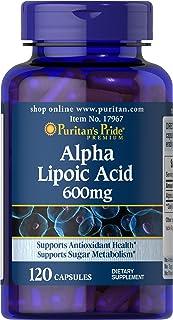 Puritans Pride Alpha Lipoic Acid 600 Mg, 120 Count