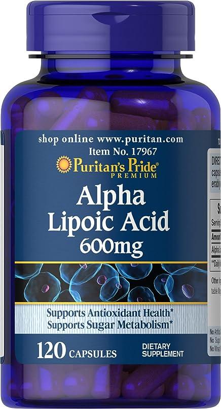 聴覚障害者トチの実の木アクセスピューリタンズプライド(Puritan's Pride) アルファリポ酸 600 mg.カプセル