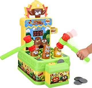 Crazy Whack A Mole Toddler Toys for 2 3 4 5 6 Year Old Boys Girls Gifts Arcade Games Counting Score Mouse Trap Kids Toys I...