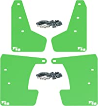 RokBlokz Mud Flaps for 2017 + Subaru Impreza - Multiple Colors Available - Mud Guards are Custom Cut and Fit - Includes All Mounting Hardware (Lime Green with White Logo, Short)