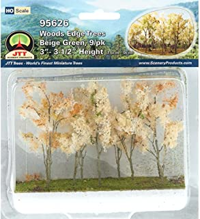 "Jtt Scenery Products 95626 Woods Edge Trees Beige Green 3-3.5"" (9) HO, 95626"