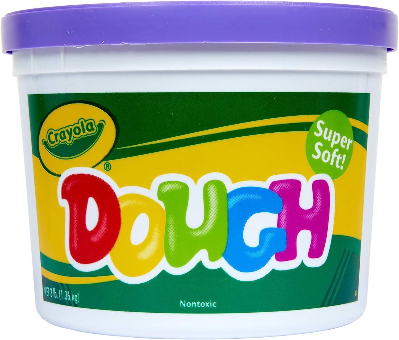 Crayola Dough, Purple, 3lb Bucket, Crumble Free, Arts & Crafts
