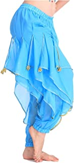 blue belly dance pants
