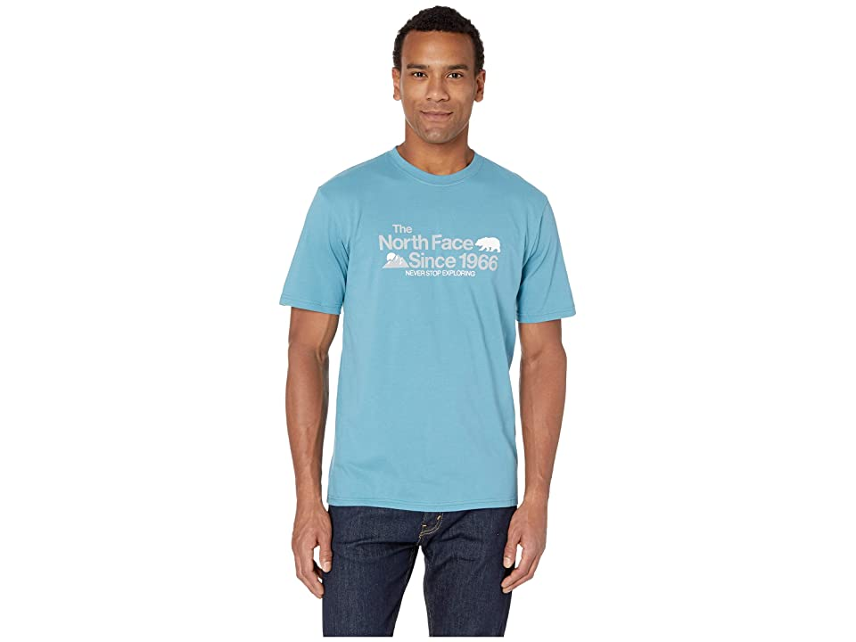 The North Face Short Sleeve Bearitage Rights Tee (Storm Blue) Men