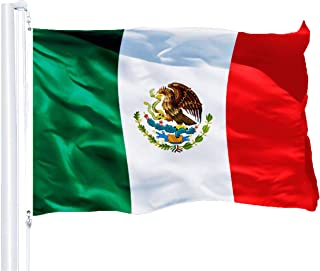 Best G128 – Mexico (Mexican) Flag | 3x5 feet | Printed 150D – Indoor/Outdoor, Vibrant Colors, Brass Grommets, Quality Polyester, Much Thicker More Durable Than 100D 75D Polyester Reviews