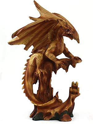 unison gifts MMF-305 13.5 INCH WOODLIKE Dragon, One Size, Multicolor