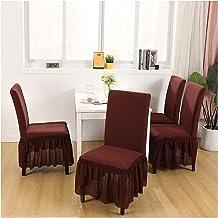 أغطية للكراسي 4 قطع مطاطي كرسي بغطاء الأغلفة الأغلفة مع 3 قطع من أغطية واقية للكراسي (اللون: 5)