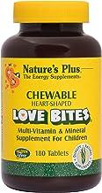 NaturesPlus Love-Bites Children's Chewable Tablets - 180 Heart-Shaped Tablets - Orange Pineapple - Multivitamin Supplement...