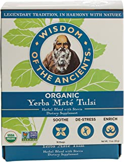 Wisdom of the Ancients Organic Yerba Maté Tea Bags, Tulsi, 1.1 oz