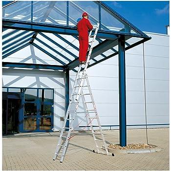 WOLFPACK LINEA PROFESIONAL 23020650 Escalera Aluminio Industrial Pronor 3 Tramos 8 Peldaños: Amazon.es: Bricolaje y herramientas