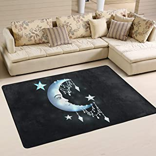 S Husky Large Area Rug for Living Room Mandala India Shining Star Moon Diamond Soft Baby Children Crawl Mat for Bedroom Classroom Decorative Carpet Floor Mat Play Mat 72 x 48 in 2042697