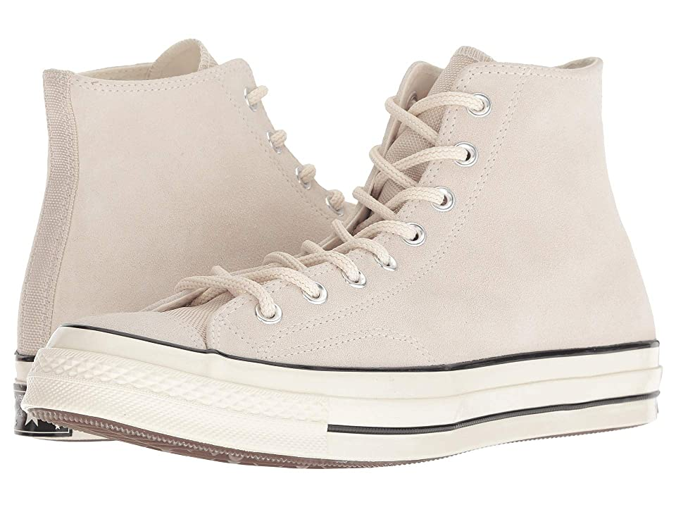 Converse Chuck 70 Base Camp Suede - Hi (Natural Ivory/Black/Egret) Lace up casual Shoes, White