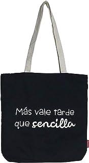 Hello-Bags, Bolso Tote, 38 cm, Negro