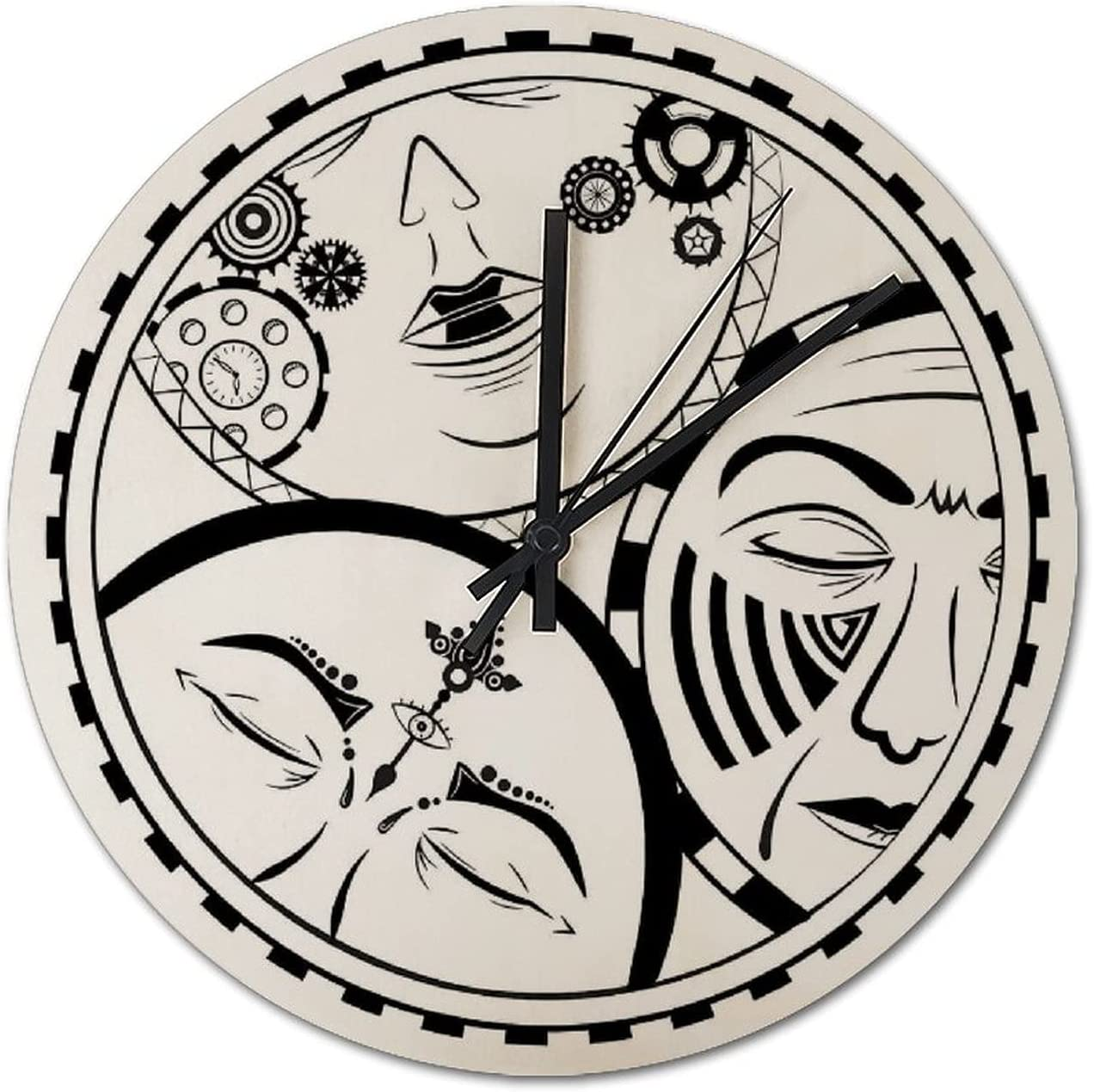 Wall Selling Complete Free Shipping Clock- Wooden Fashion Round Kitchen Bedroom Living Clock Ro