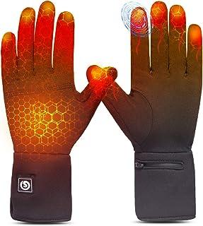 Uppvärmda handskar män kvinnor, elektriska laddningsbara batterihandskar handvärmare för skidåkning ridning snö arbete atr...