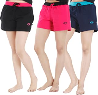 Nite Flite Women's Cotton Hot Shorts - Pack of 3