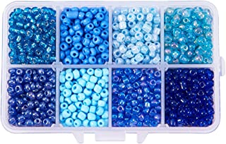 Opaque Blue Natural DARICE 06121-2-03-2PK 06121-2-03 1000 Count Pony Beads 2 Pack 9mm