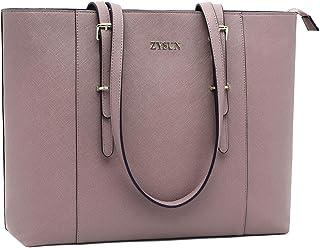 حقيبة كمبيوتر محمول للنساء,15.6 بوصة حقيبة يد متعددة جيوب عمل حقيبة منظمة مع حافظة مبطنة للكمبيوتر المحمول اللوحي 15.6 inches