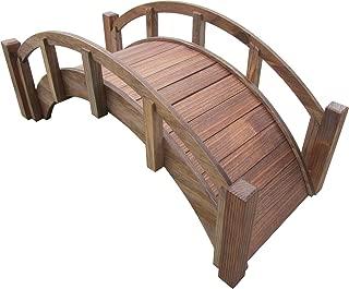 SamsGazebos Miniature Japanese Wood Garden Bridge, Treated, Assembled, 25