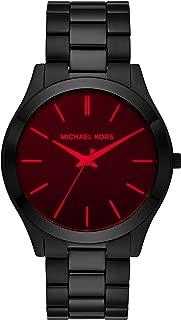 Michael Kors Men's Slim Runway Quartz Watch with Stainless Steel Strap, Black, 22 (Model: MK8734)