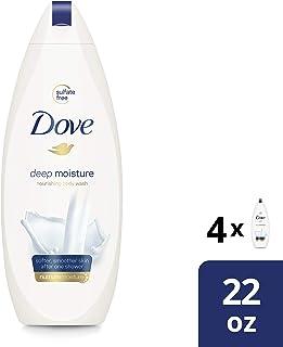 Dove Body Wash for Dry Skin Deep Moisture Sulfate Free Body Wash 22 Fl Oz (4 Count)