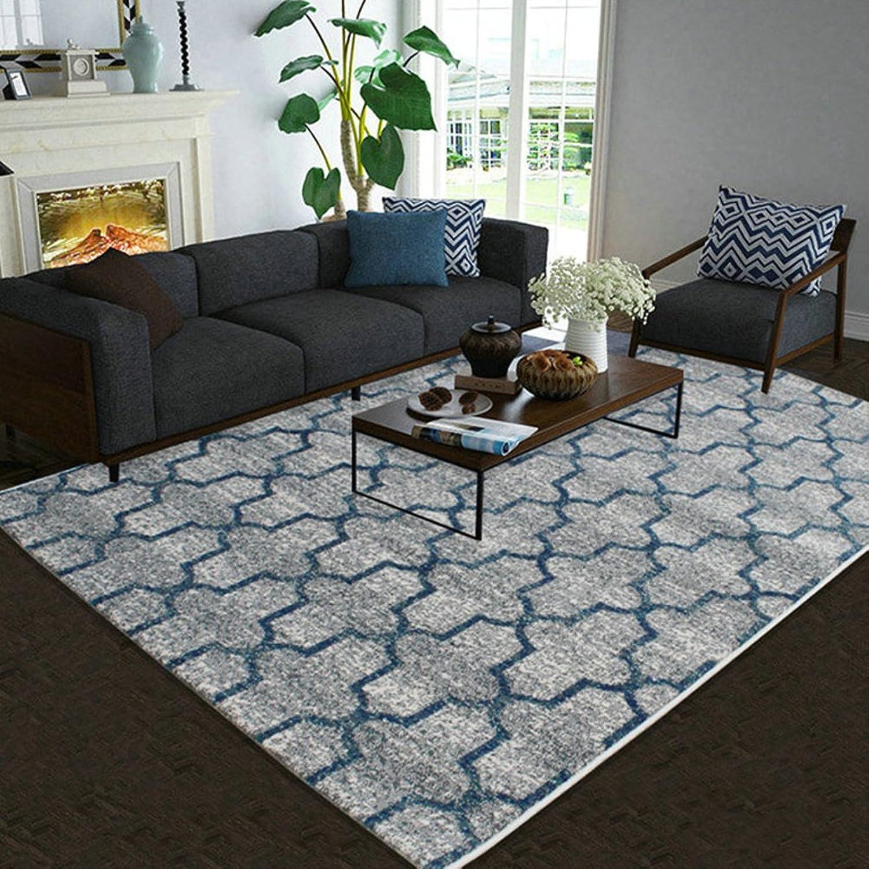 Pattern rectangular carpet mat The carpet for the living room Simple carpet Bedroom Tea table blanket Mats beside the bed-N 80x120cm(31x47inch)