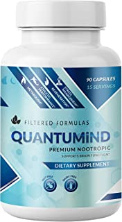 Nootropics Brain Supplement - Focus Supplement for Memory :: Concentration :: Clarity :: Energy - Mental Health and Memory Supplement for Brain with Ashwaganda - QUANTUMiND by Filtered Formulas (60)