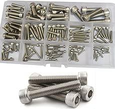 Hex Socket Head Cap Screw Metric Thread Hexagon Allen Machine Bolt M2.5 M3 M4 M5 M6 M8 Metal Standard Fastener Hardware Assortment Kit Set 135Pcs 304 Stainless Steel M2.5-M8