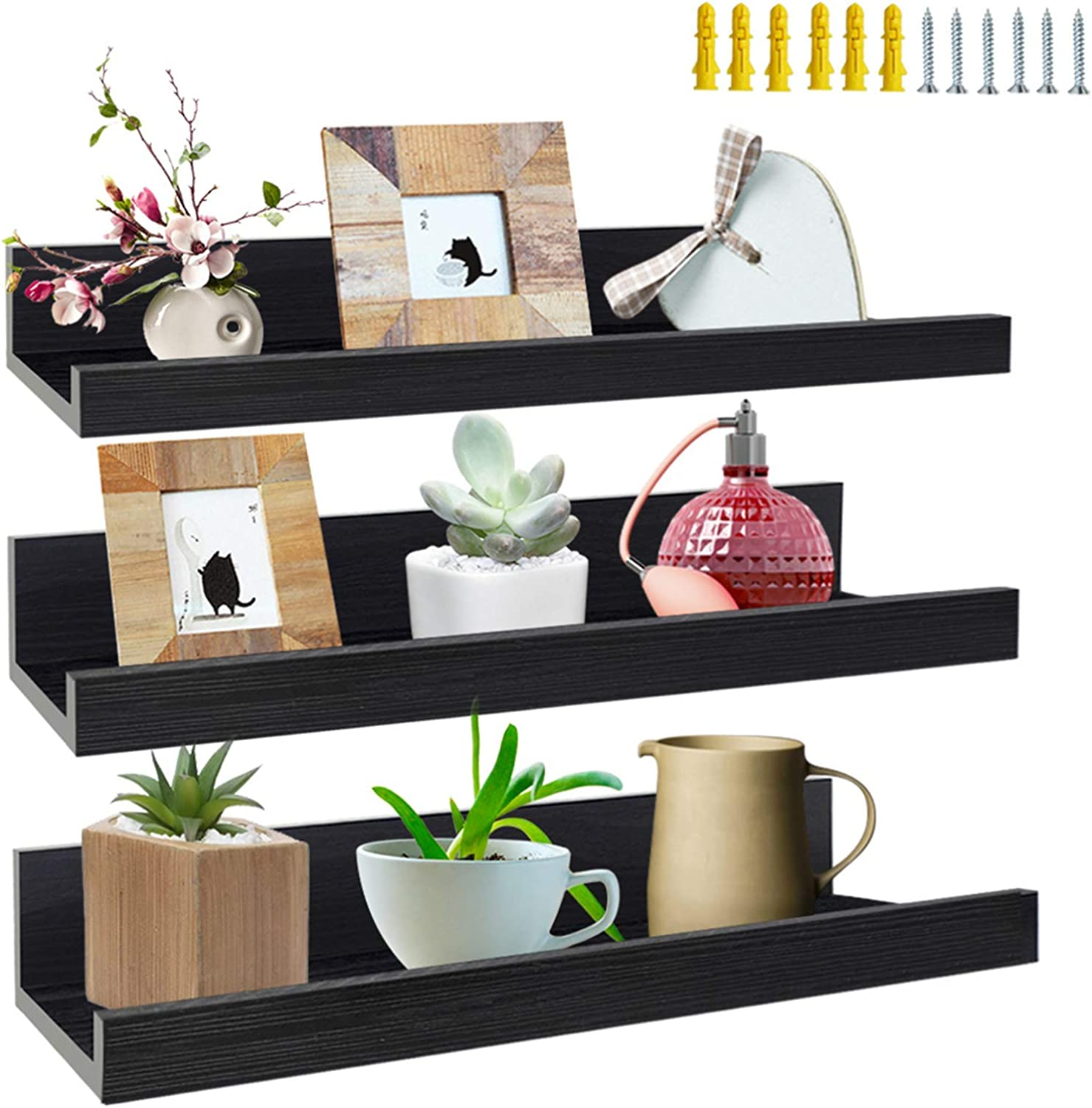Lavezee 3 mart Ranking TOP17 Pack 16 Inch Black 9 11x14 B and Shelves Floating