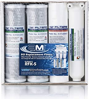 Reverse Osmosis Filter Replacement | Pre & Post Filter Complete RO Filter Set | For 5 Stage Reverse Osmosis Water Filtration Systems | Applied Membranes Inc.