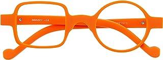 DIDINSKY Leesbril Anti Blauw Licht voor Dames en Heren. Rubberen aanraking, flexibele slapen en antireflecterende kristall...