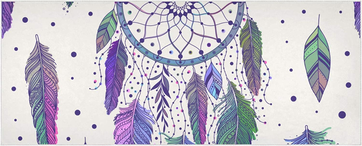 Max 75% OFF Women's Warm Scarf Colorful Leaves Extra Fees free!! Feathers Dreamcatchers
