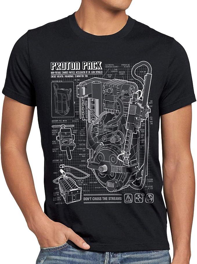 21 opinioni per style3 Zaino Protonico Cianografia T-Shirt da Uomo Fantasma Proton Pack