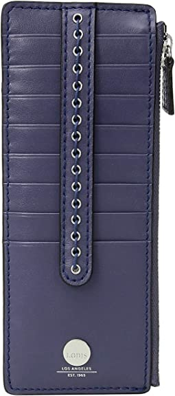Saratoga Credit Card Case with Zipper Pocket