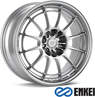 Enkei NT03+M 18x9.5 5x114.3 27mm Offset 72.6mm Bore F1 Silver Wheel Evo 8 & 9 Direct Fit