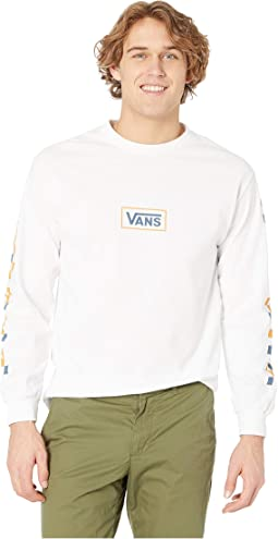 e08bd710 Vans flame check long sleeve boyfriend t shirt | Shipped Free at Zappos
