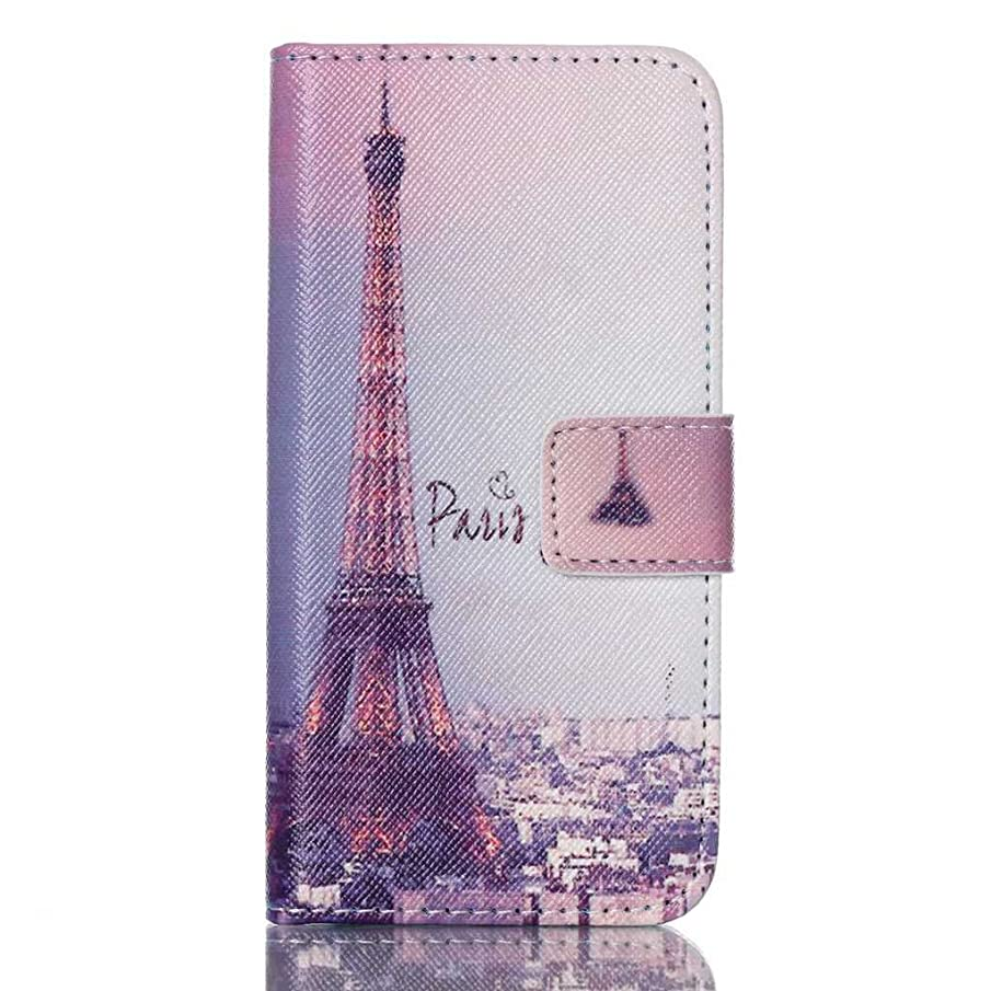 iPod Touch 5th 6th Generation Case, Life Sweetly Night Eiffel Tower Style Cute Magnetic Wallet Flip Case Stand for Apple iPod Touch 5th 6th Generation