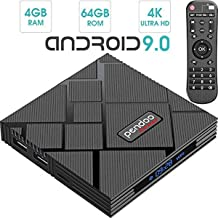 TV Box Android 9.0, Pendoo X10 Max Amlogic S905X2 4GBRAM 64GB ROM Quad Core 5.8GHz BT + Dual WiFi