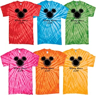 Disney World Matching t Shirts Family Vacation 2019 tie dye Magic Kingdom