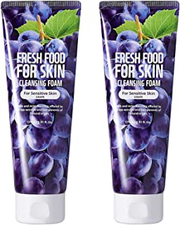 Face Foam Cleanser for Sensitive Dry Oily Normal Skin by Fresh Food for Skin 2pk