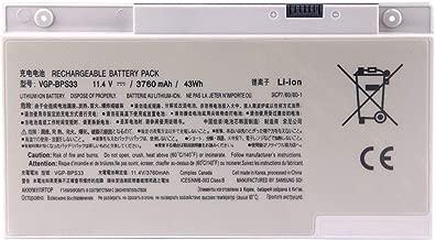 Binger New VGP-BPS33 Replacement Laptop Battery For Sony Vaio Svt-14 Svt-15 T14 T15 Touchscreen Ultrabooks VAIO SVT14127CG SVT14126CXS SVT14127CH SVT14128CC(11.4V 3760mAh 43Wh)