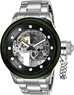 Men's Russian Diver Automatic-self-Wind Watch with Stainless-Steel Strap, Silver, 26 (Model: 26275)