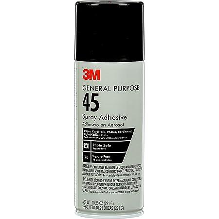 3M General Purpose 45 Spray Adhesive, 10-1/4-Ounce, White