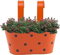 Gadgets Appliances Wonderful Colour Polka Dots, Railing Planter, Flower Pot, Wall Planter, Metal Planter, Balcony, Garden Planter Basket (Red)
