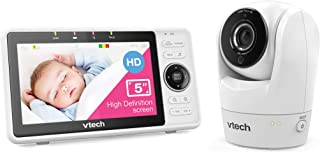 "VTech RM901HD 5"" Smart Wi-Fi HD Pan & Tilt Video Monitor with Remote Access, White,"