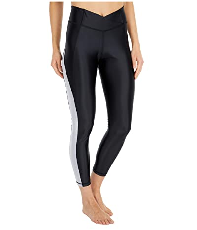 Reebok Shiny Lycra High-Rise Tights (Black) Women