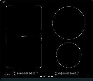 SAUTER - Table de cuisson à induction encastrable – 3 ou 4 foyers : 1 de 2200 W, 1 de 3100 W et 1 de 5000 W scindable en 2...