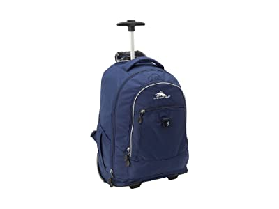 High Sierra Chaser Wheeled Backpack (True Navy) Backpack Bags