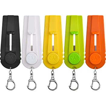 TOODOO 5 Pieces Cap Zappa Beer Bottle Opener Cap Shooters Launchers with Key Ring, 5 Colors